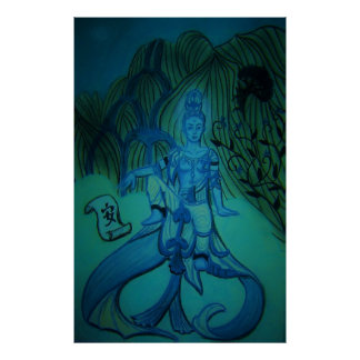 Blue Buddha Love Print
