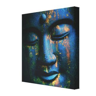 Blue Buddha Om Peace Canvas Print