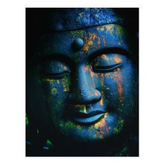 Blue Buddha Om Peace L Postcard