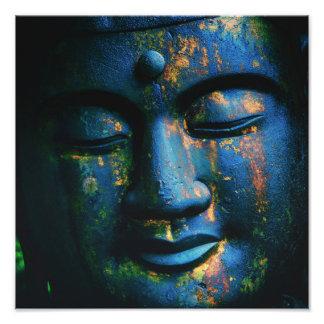 Blue Buddha Om Peace Art Photo