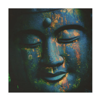 Blue Buddha Om Peace Wood Canvases