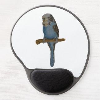 Blue Budgie Art Gel Mousepad