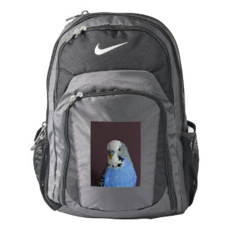 Blue Budgie Bird Animal Backpack