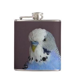 Blue Budgie Bird Animal Hip Flask