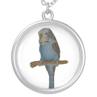 Blue Budgie Necklace
