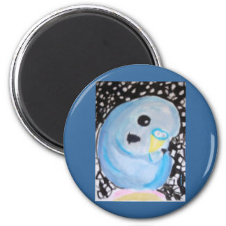 Blue Budgie Under The Stars Magnet