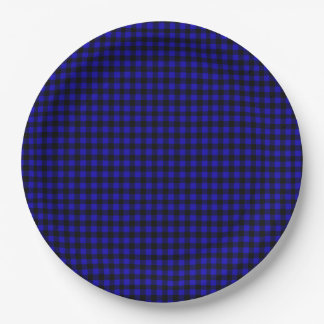 Blue Buffalo Plaid Rustic Cabin Paper Plate