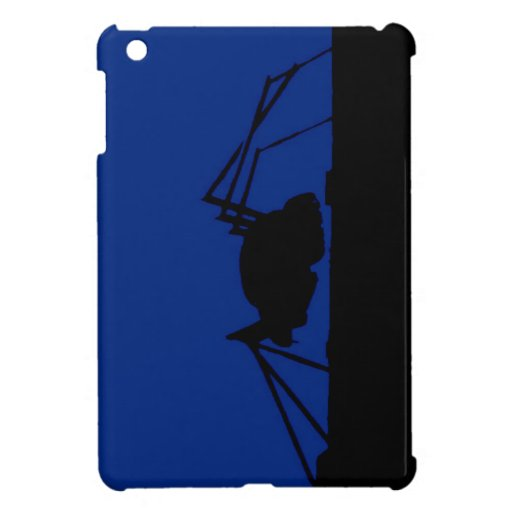 BLUE BUG ON A ROOF iPad MINI CASE