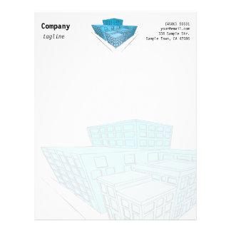 Blue Building - letterhead