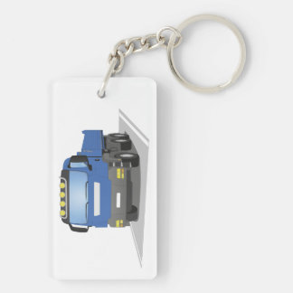 blue building sites truck keychain