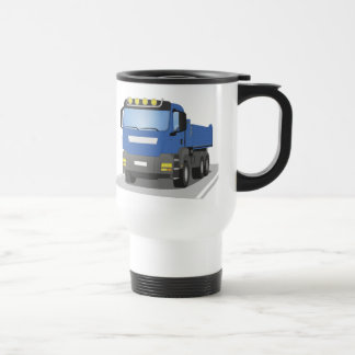 blue building sites truck travel mug