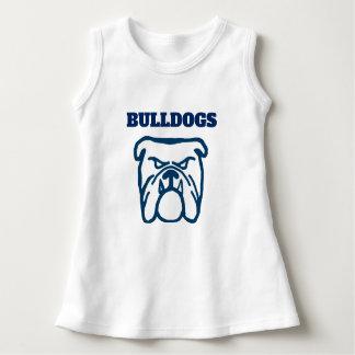 Blue Bulldog Dress