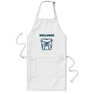 Blue Bulldog Long Apron