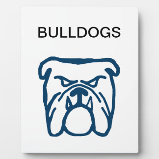 Blue Bulldog Plaque