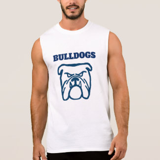 Blue Bulldog Sleeveless Shirt