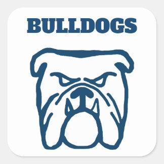 Blue Bulldog Square Sticker