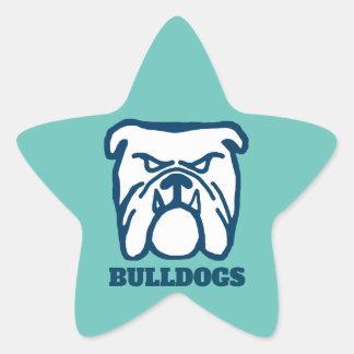 Blue Bulldog Star Sticker