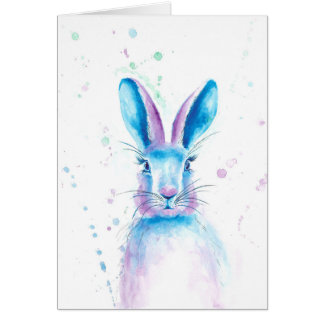 Blue Bunny Greetings Card