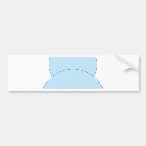 Blue Bunny Rabbit Bumper Sticker