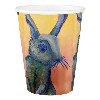 blue bunny rabbit paper cup