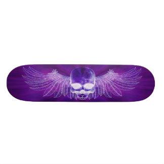 Blue Burst Ghostly Winged Skull Skateboards