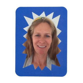 Blue Burst Photo Frame Magnet