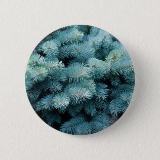 Blue Bush 2 Inch Round Button
