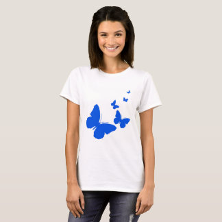 Blue Butterflies In Flight T-Shirt