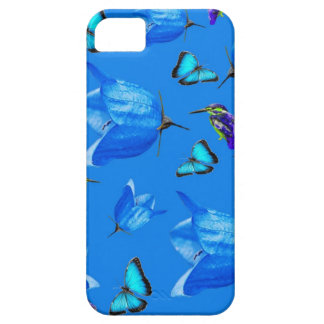 Blue Butterflies, Kingfishers, And Bell Flowers, iPhone 5 Covers