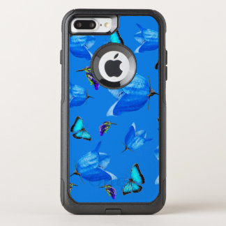 Blue Butterflies, Kingfishers, And Bell Flowers, OtterBox Commuter iPhone 8 Plus/7 Plus Case