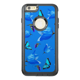 Blue Butterflies, Kingfishers, And Bell Flowers, OtterBox iPhone 6/6s Plus Case