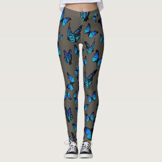blue butterflies - leggings