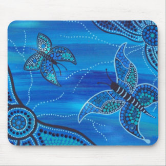 Blue Butterflies Mouse Pad