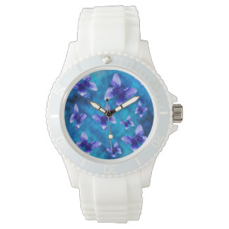 Blue Butterflies Of Summer, Sports Watch