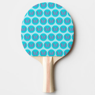 Blue butterflies pattern Ping-Pong paddle