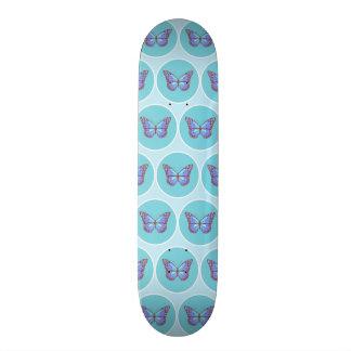 Blue butterflies pattern skateboards