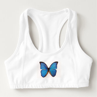 Blue Butterflies Sports Bra