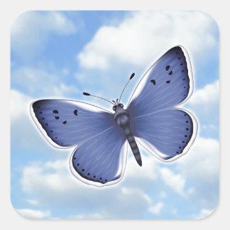 Blue Butterflies Square Sticker