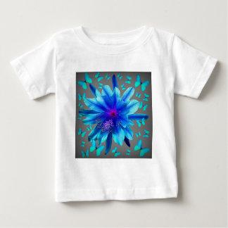 Blue Butterflies Tropical Flower Gifts Baby T-Shirt