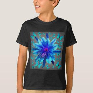 Blue Butterflies Tropical Flower Gifts T-Shirt