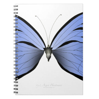 Blue Butterfly 2 Azure Huntsman Spiral Notebook