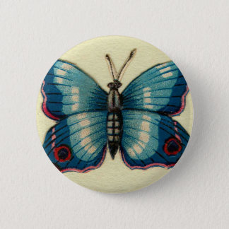 Blue Butterfly 2 Inch Round Button