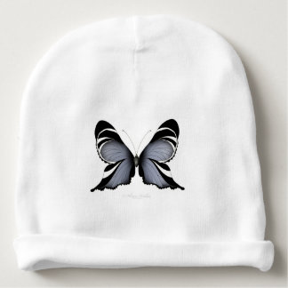 Blue Butterfly 3 Sulawesi Woodtree Baby Beanie