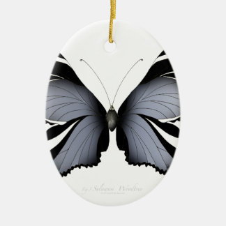 Blue Butterfly 3 Sulawesi Woodtree Ceramic Ornament