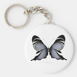 Blue Butterfly 3 Sulawesi Woodtree Keychain