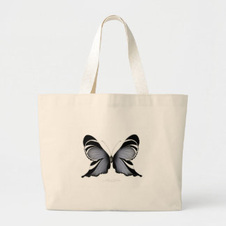 Blue Butterfly 3 Sulawesi Woodtree Large Tote Bag