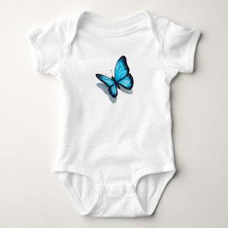 Blue Butterfly, 3D Look, Color Pencil Art, Wings Baby Bodysuit