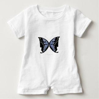Blue Butterfly 4 Blue Marsh Maid Baby Romper