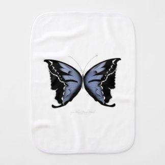 Blue Butterfly 4 Blue Marsh Maid Burp Cloth