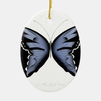Blue Butterfly 4 Blue Marsh Maid Ceramic Ornament